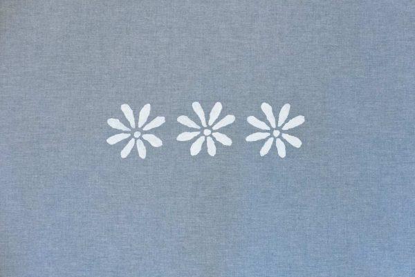 Drei.Blüten (Blau)