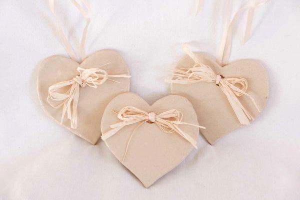 Drei.Keramik.Herzen